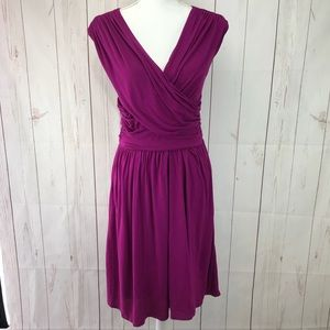 Velvet Purple Midi Sleeveless Dress Size M